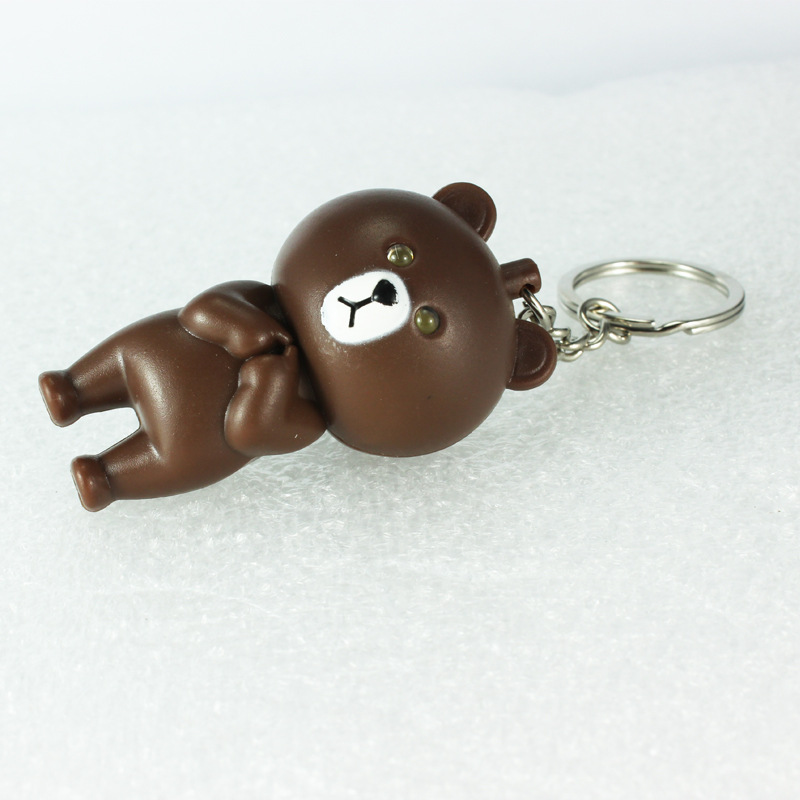 Mini expressions bears font b led b font key chain individuality creative mobile phone s accessories