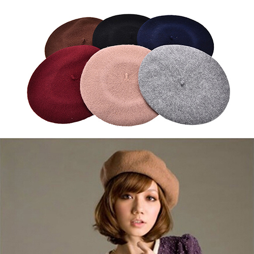 40699c967279a Hot Sale Women Vintage Winter Berets hat Wool Blend pillbox hat Beret  Beanie Gifts 6 Colors Wholesale 1Pcs-in Berets from Apparel Accessories on  ...