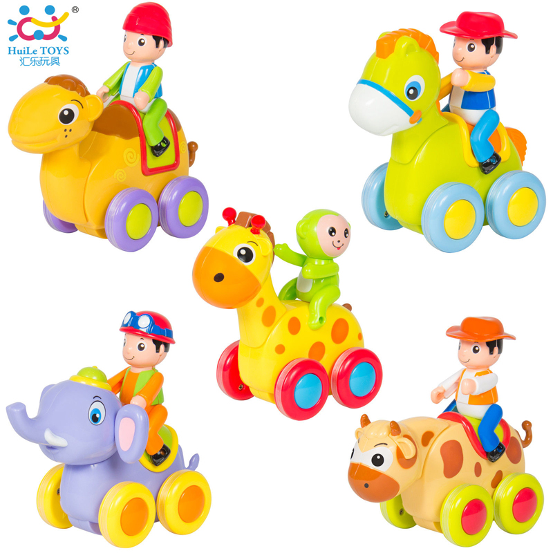 1pc cartoon animals friction push and go toy cars elephant deer camel car toy children early educational toddler baby toy in diecasts toy vehicles
