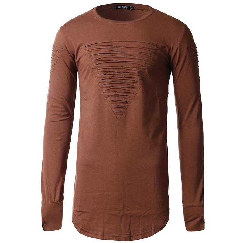 2017 fashion men Spring hoodie hole ripped hip hop high quality cotton long hoodies male long