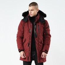 2018 New Brand Jacket Men Fur Collar Hooded Parka Fashion Warm Thick Medium Long Coat Man Jacket Male Parkas Kurtka цены