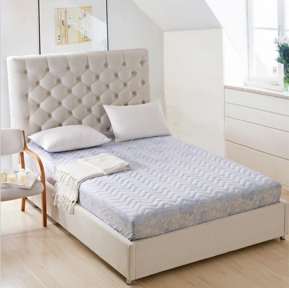 Beau SunnyRain Polyester Thick Mattress Protector Quilted Bed Sheet Queen Size  Fitted Bed Sheet Mattress Cover Pocket Depth 30cm In Sheet From Home U0026  Garden On ...
