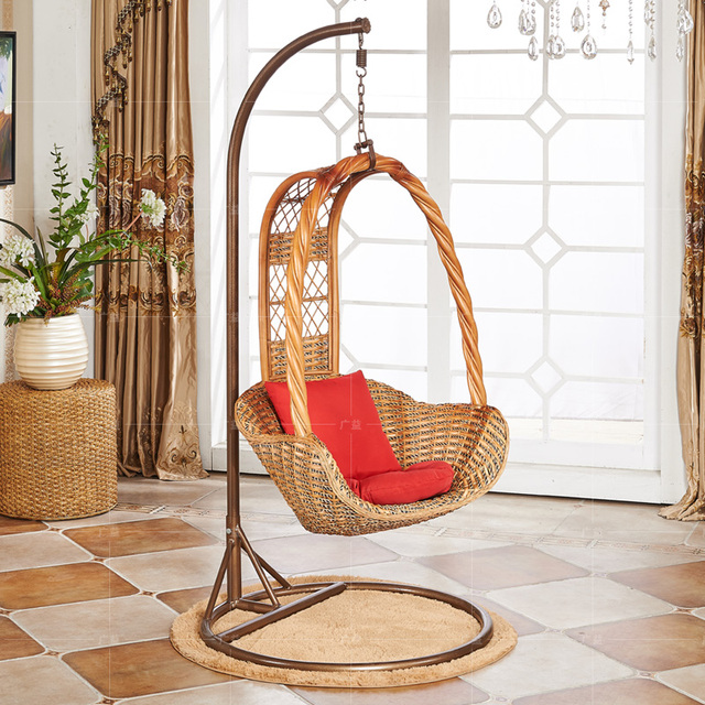 Natural Basket Rocking Chair Adult Outdoor Swing Chair Hanging