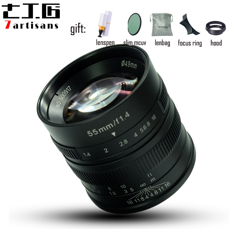 7artisans 55mm F1 4 Large Aperture manual fixed focus micro single camera lens for canon M