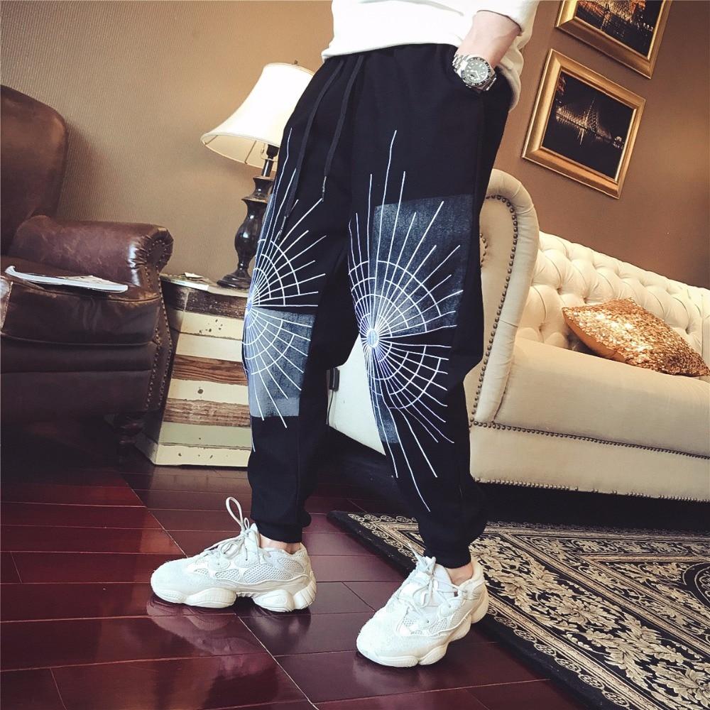 Harlan Automne Pantalon Imprimé Motif Hiver Pieds Casual Spider Cravate Nouveau Pantalon Petit 11 Sport Web fvR4f1