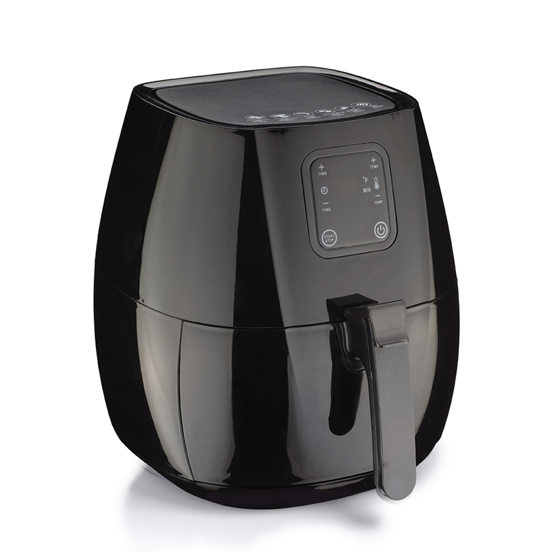 Air Fryer Oil-Free Non-Stick Kitchen Appliances Multiple Uses LCD Display Electric Deep Fryers lcd deep air fryer household intelligent no fumes 2 8l high capacity black third generations upgrade electric fryer