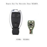 LARATH 2 UNIDS * 3 Botones Inteligentes Dominante Alejada Del Coche para Mercedes Benz año 2000 + NEC y BGA estilo Auto de Control Remoto Clave 433 MHz Sin Cortar hoja
