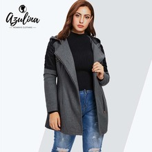 SZMXSS Winter Warm Slim Thick Long Parkas Color Fur Collar Hooded For Women Coats