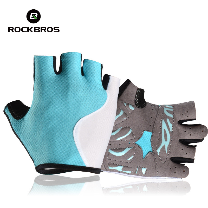 Rockbros Summer Cycling Gloves Half Finger Breathable MTB Road Bike Gloves 2018 Bicycle Gloves Pro Pads Luva De Ciclismo