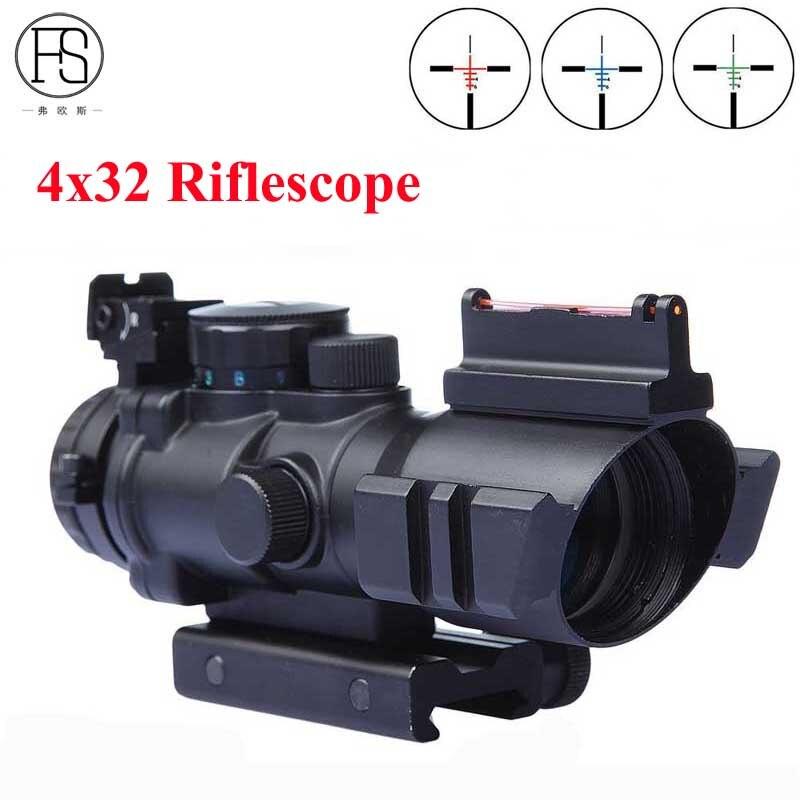Offre spéciale tactique 4X32 Mini optique Sniper portée compacte lunette de visée Airsoft viseur fusil tir chasse portées 20mm Rail