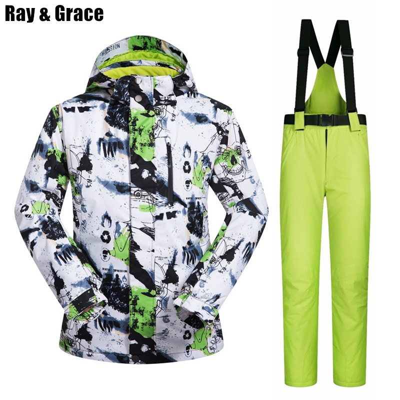 RAY GRACE Ski Jacket Men Winter Clothing Male Snowboard Jacket Pants Suit Waterproof Thermal Breathable Professional Snow SetRAY GRACE Ski Jacket Men Winter Clothing Male Snowboard Jacket Pants Suit Waterproof Thermal Breathable Professional Snow Set