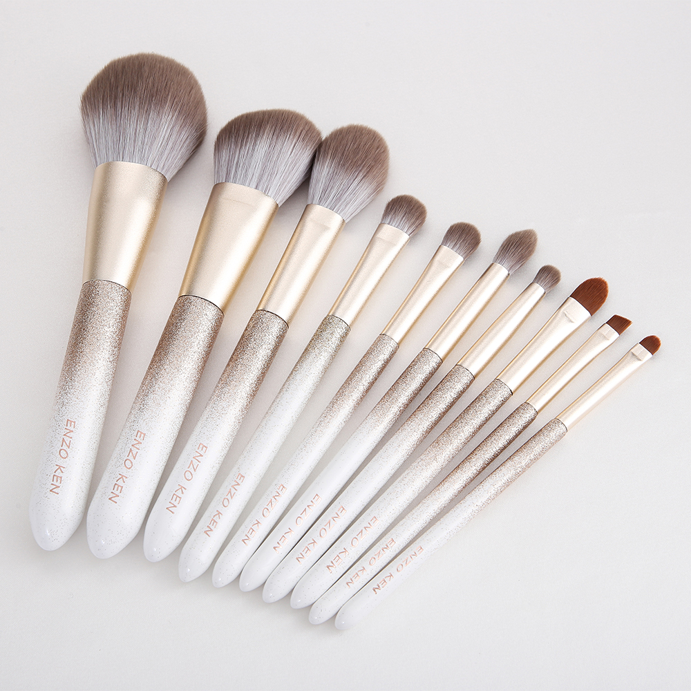 ENZO KEN 10 Pcs Makeup Brushes Set for Highlighting and Contouring Suitable for Eye and Face Makeup 19