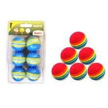 Golf Balls Hot Sale 6Pcs/Lot Indoor Practice EVA Sponge Foam Balls Swing Training Aids Golfing Accessories Blue/Red