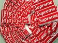 600 pçs/lote Supremo SUP à prova d' água e oilproof adesivo vermelho pequeno tamanho 9*2.5 cm vidro telefone mochila etiqueta livre grátis