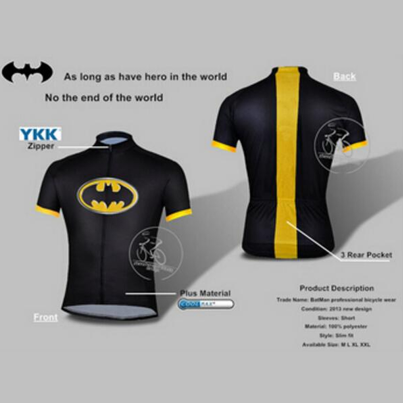 be20f8bb3 Hot Sale Batman cycling jersey kits batman bicycle short sleevebike clothing  superhero customizable size XS 4XL-in Cycling Jerseys from Sports ...