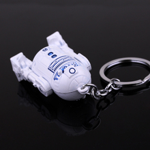 Star Wars Series 3D Robot R2-D2 Keychain Pendant Alloy Key Rings Chaveiro Key Chain Jewelry Accessories