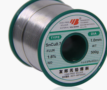 купить 500g/1pcs Sncu 0.8MM 99.3% tin Lead -free Solder wire Soldering Welding онлайн