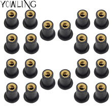 M5 Motorcycle Accessories Windscreen Well nut Rubber Nuts Screw Bolt for HONDA ST1300/ST1300A VFR800 CBR125R CB190 XADV 750