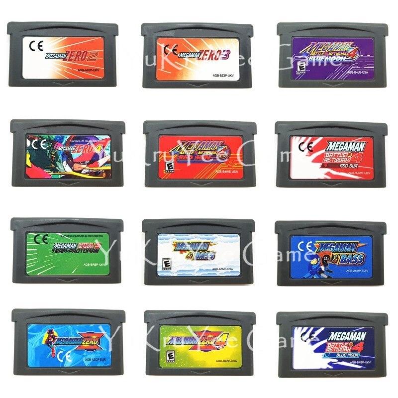 Mega Man Series Video Game Memory Cartridge Card for 32 Bit Console Accessories