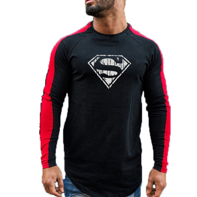 New Brand Men's Fashion T-Shirt Spring and Summer Slim Shirt Men's Shirt Casual Slim Long Sleeve Personality T-Shirt Apparel
