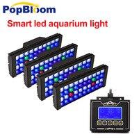 Popблум полный спектр светодиодный подводный светильник аквариум светодиодное освещение аквариум Светодиодная лампа для аквариума Led для м