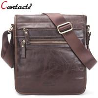 CONTACT S Men Bag Men S Genuine Leather Messenger Bag Crossbody Shoulder Bag For Men Business