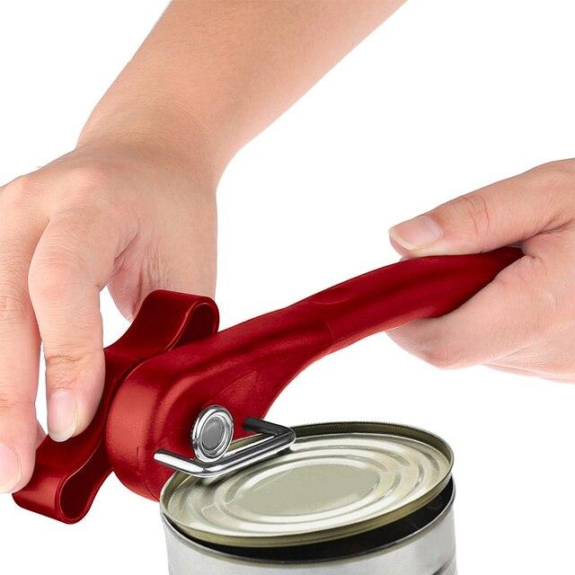 Herramientas de cocina para el hogar, fácil abridor Manual de Metal, abridores profesionales de acero inoxidable sin esfuerzo con perilla de giro