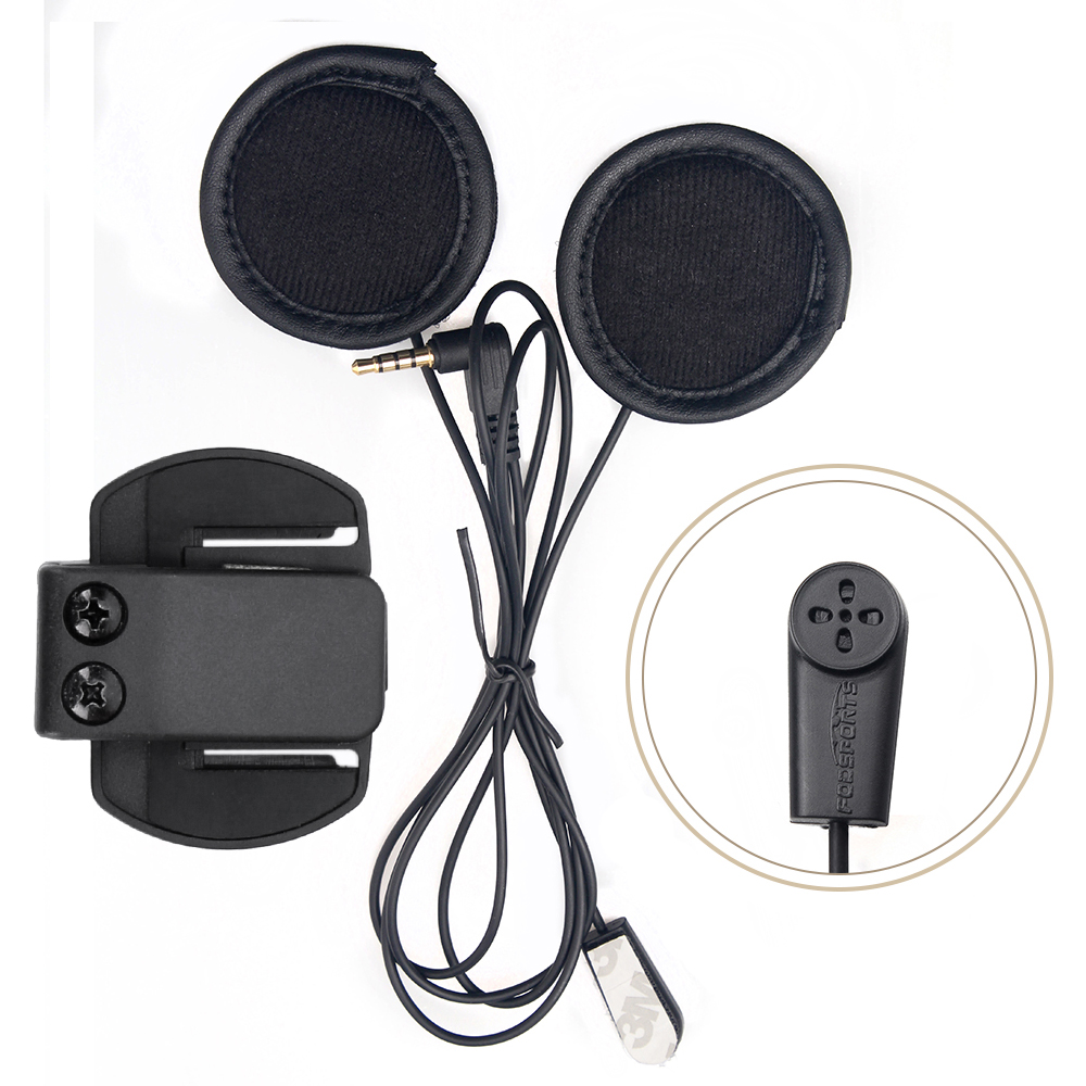 V6 Interphone Accessories (Soft Earphone & Clip Bracket )ONLY Suit For V6 V4 Motorcycle Helmet  Headset Intercom