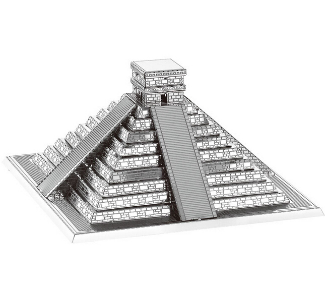 3d-puzzle-precision-laser-cutting-metal-Maiden-Tower-Maya-Pyramid-Yueyang-TowerBig-Wild-Goose-Pagoda-model-puzzle-toys-1