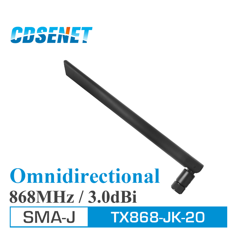 bilder für 2Pcs/Lot Omni 868MHz High Gain uhf Antenna CDSENET TX868-JK-20 SMA Male 868 MHz Omnidirection Wifi Antennas for Communication