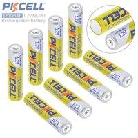 Pkcell 8 pcs 3A Bateria de 1.2 V AAA 1200 mAh Ni-Mh Baterias Recarregáveis com Válvula De Alívio de Segurança para a Câmera/brinquedo/Controle Remoto