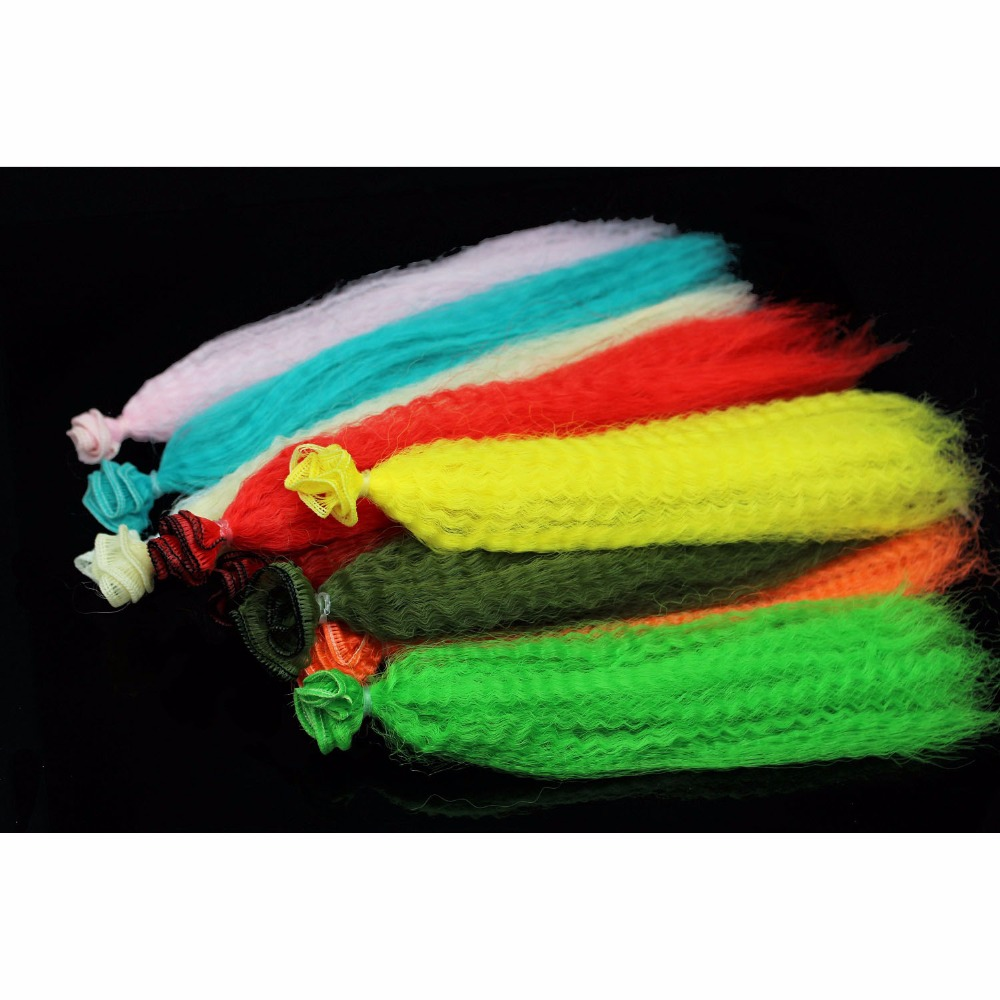 Tigofly 11 Colors Crimped Nylon Synthetic Fiber Kinky Curly Hair Fibre Clouser Minnow Streamer Fly Fishing Tying Materials tigofly 12 colors fly tying double head permanent waterproof marker pen set saltwater fly fishing drawing fly tying materials