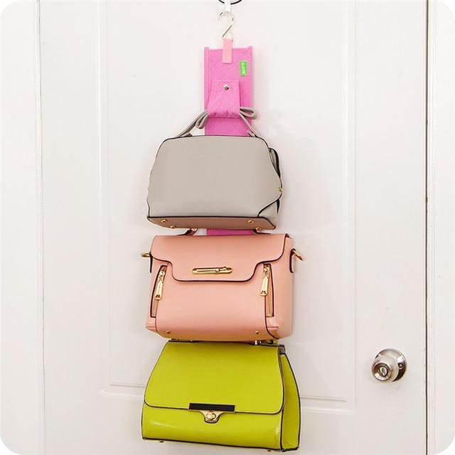 Awesome 5 Hooks Handbag Bag Racks Purse Holder Shelf Hanger Rack Storage Organizer  Strap Hanger Rear Door