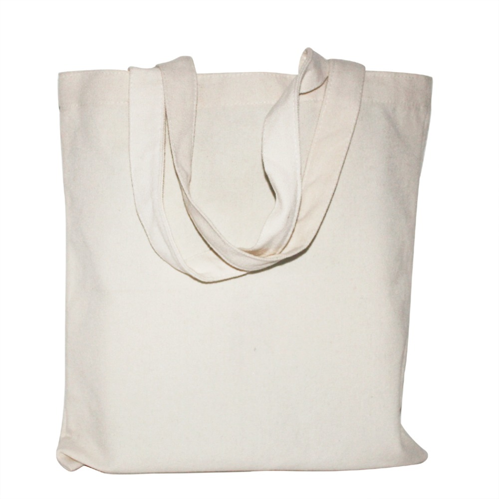 433e6edac7a White  Black 2 Color Canvas Shopping Bag Foldable Reusable Grocery Bags  Cotton Fabric Eco Tote