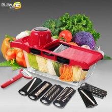 Vegetable Cutter 6 Dicing Blades Mandoline Slicer Fruit Peeler Potato Cheese Grater Chopper Kitchen Accessories