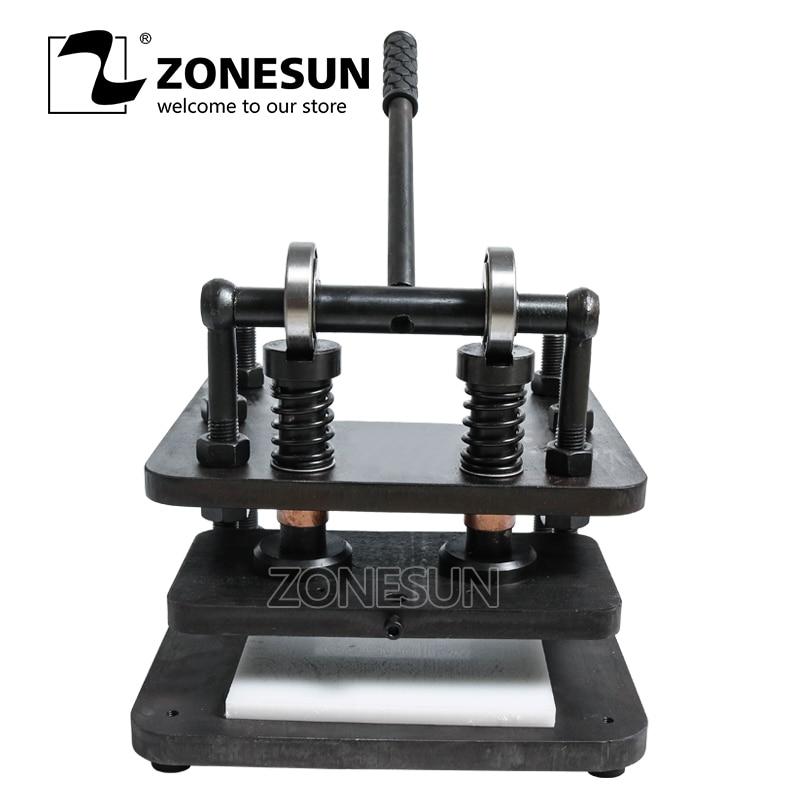 ZONESUN 2614 Hand lederen snijmachine DIY portemonnee tas fotopapier PVC/EVA blad mold cutter lederen stansen machine - 1