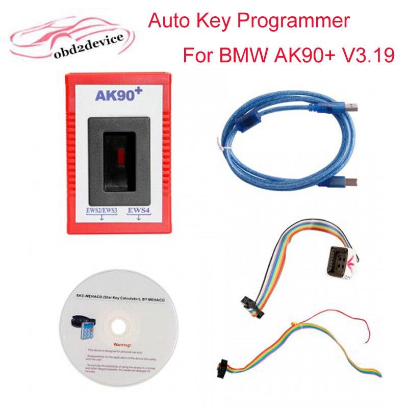 car Key Programmer ak90 V3.19 For BMW EWS From 1995 to 2009 high quality Ak90 ak90+ key programmer Copy Car Keys with best price