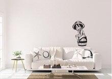 ילד חתיכה אחת לופי אנימה בהשראת עיצוב בית קיר אמנות מדבקות ויניל מדבקת ים מאוורר חדר קישוט קיר מדבקת HZW03