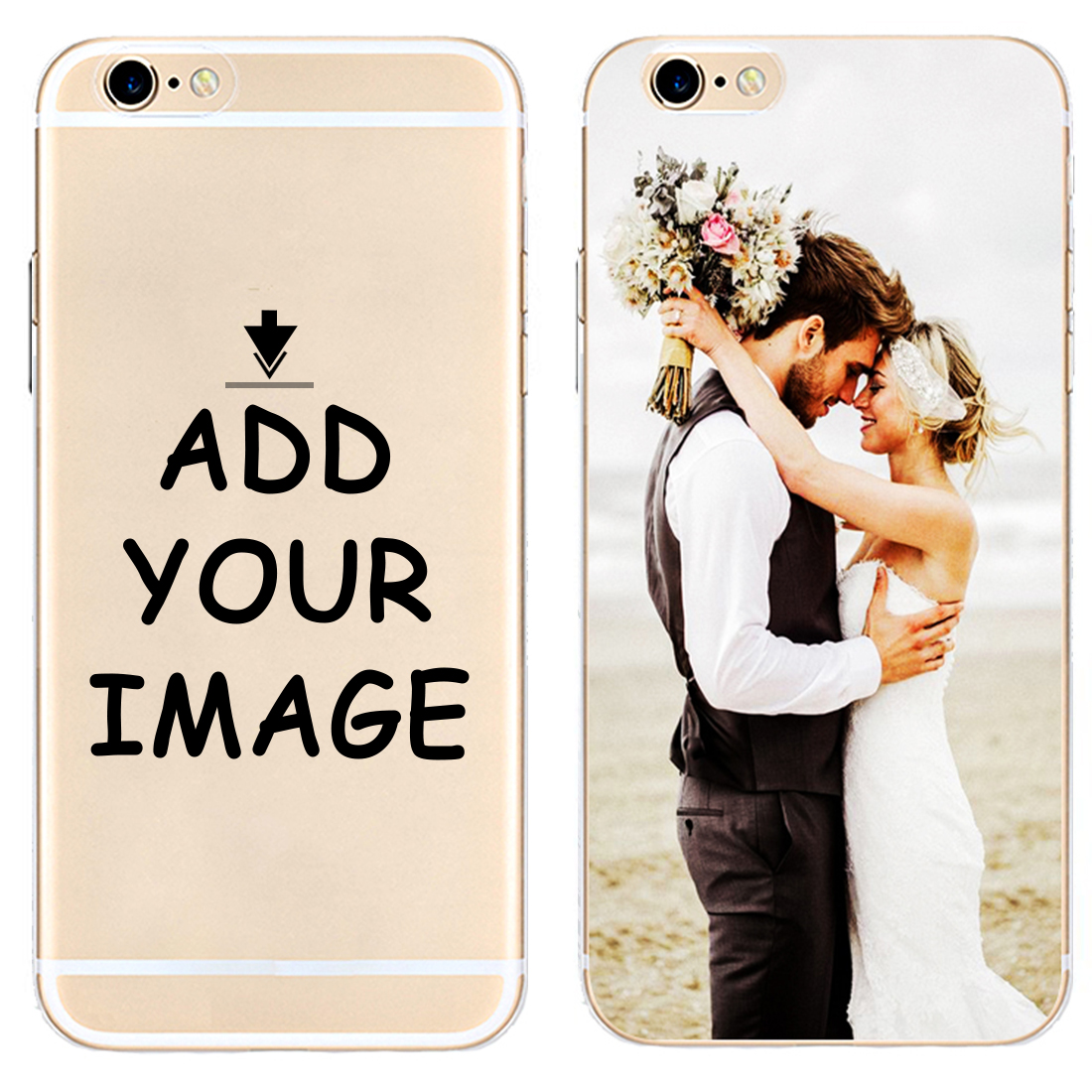 Custom Personalized Make your images Photo pattern Hard Phone Case Cover For iPhone 6 6S 7 8 Plus 5S 5C 4S X XS XR XSMax Coque in Half wrapped Cases from Cellphones Telecommunications