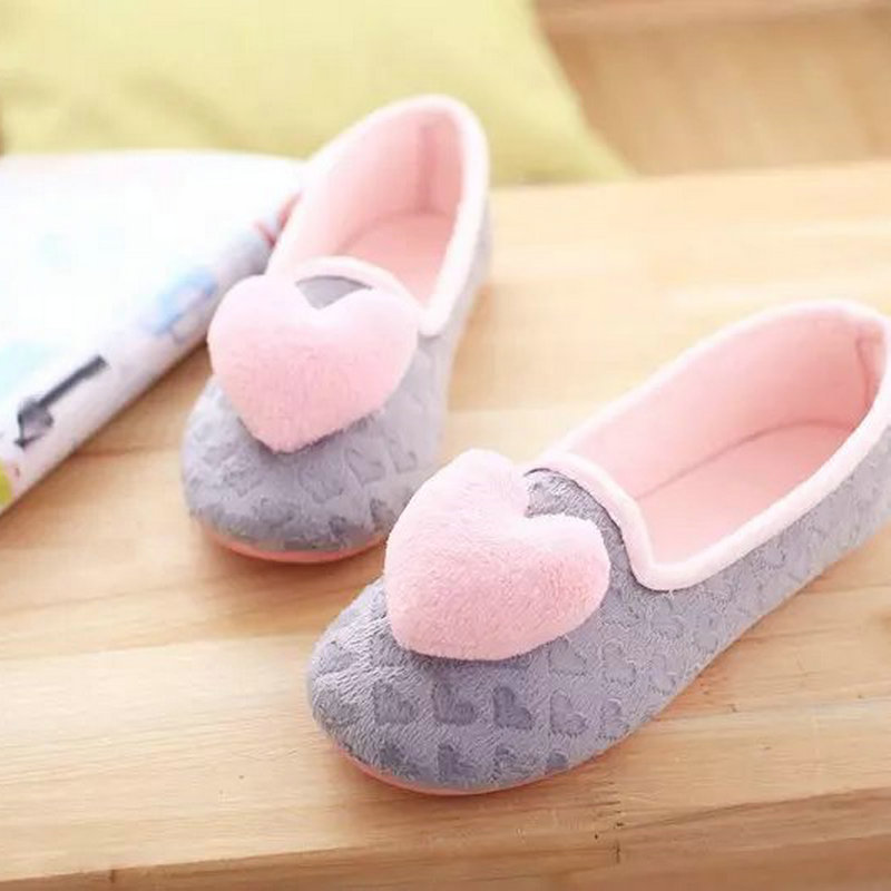 Women Love House Slippers Indoor floor for bedroom Non-slip soft bottom slippers for spring and autumn Soft Sole ladies Shoes sleep professor spring love
