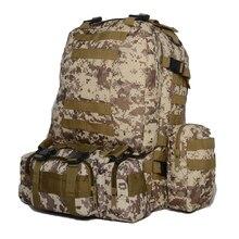 Herren Military Tasche Wasserdichte Oxford Reise Rucksack US Army Hohe Kapazität 55L