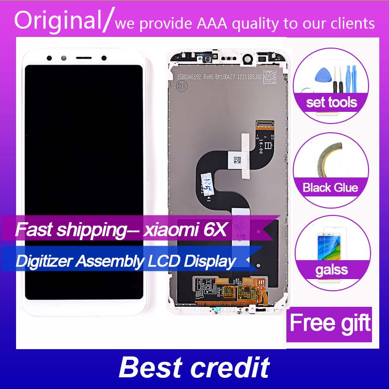 original high quality Tested LCD Screen For Xiaomi Mi 6X / A2 5.99 inch display Digitizer Assembly Frame with free  Glassoriginal high quality Tested LCD Screen For Xiaomi Mi 6X / A2 5.99 inch display Digitizer Assembly Frame with free  Glass
