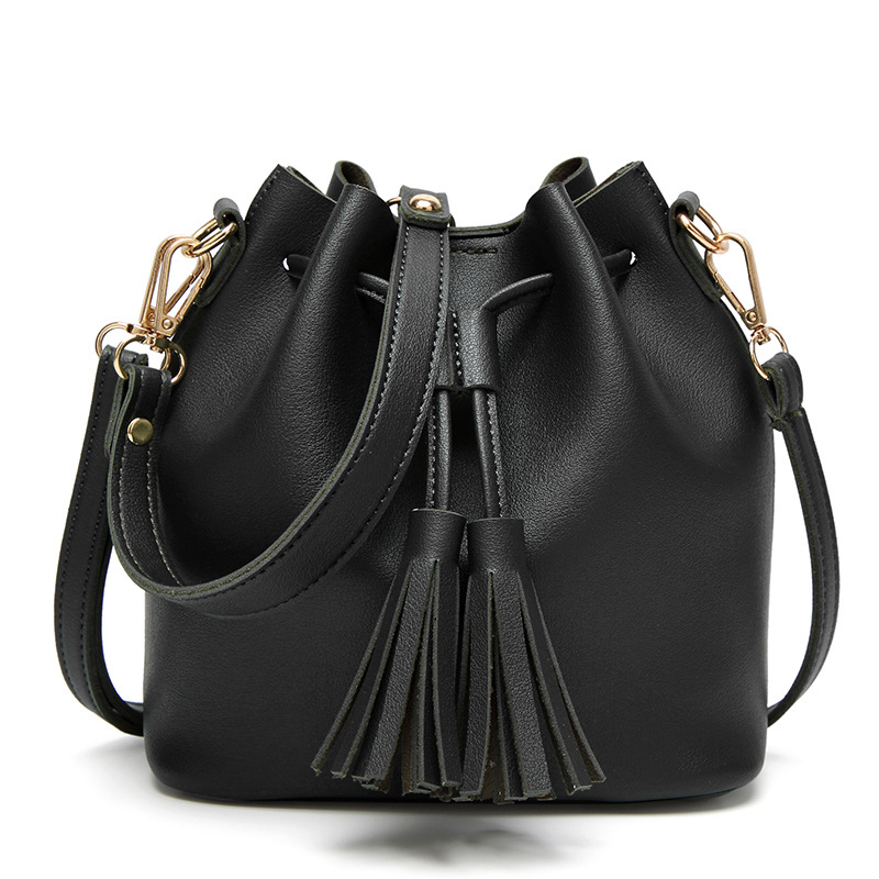 2017 New Fashion Women Bucket Bag PU Leather Women Messenger Bags  Crossbody Bags High Quality Large Capacity Ladies Tote Bag