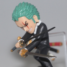 One Piece Anime Zoro Sabo Koala Doflamingo Action Figure 4pcs set 6-8cm