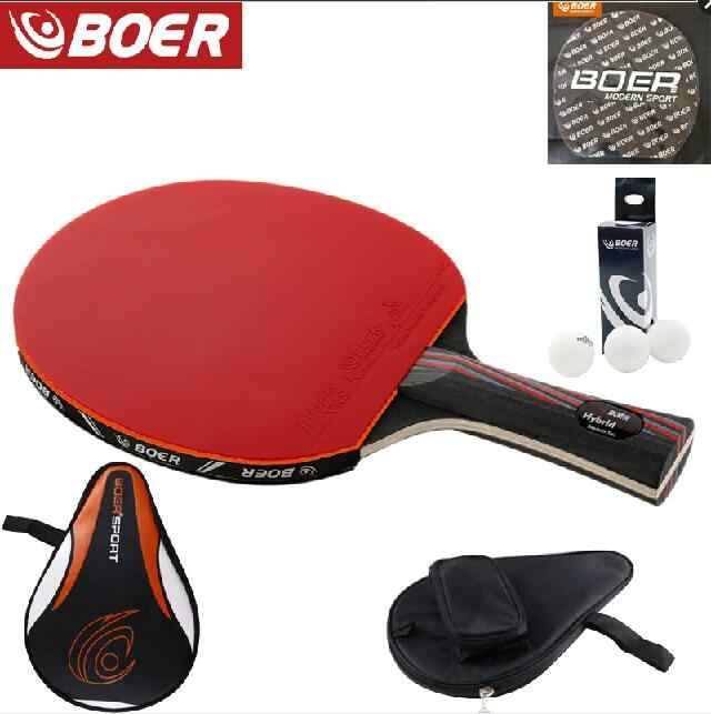 Tennis racket Table top wood plus carbon fiber offensive long handle short handle Horizontal grip ping-pong racket blade with ru