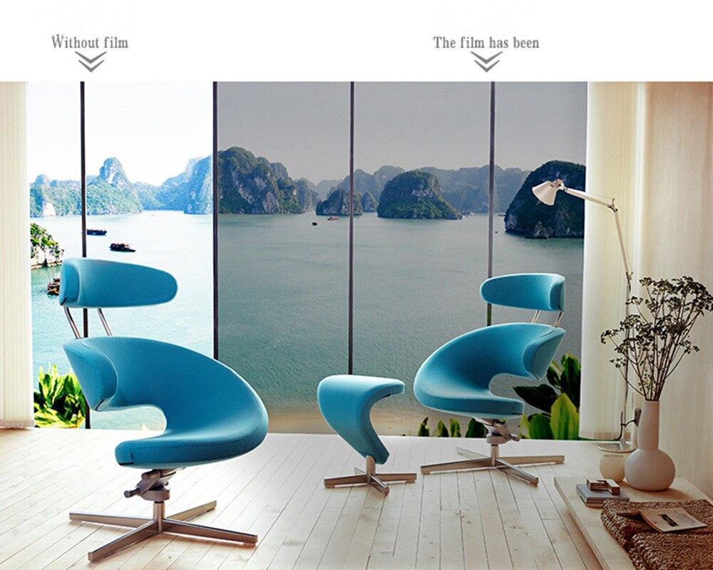 100cm x 600cm Grijs & Zilver Isolatie Glasfolie Zonne Tint Reflecterende Een Manier Spiegel Venster Tint-in Decoratief folie van Huis & Tuin op  Groep 2