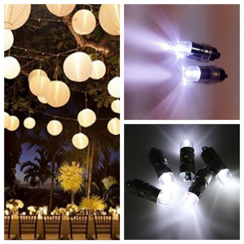 LED Party Lights For Lanterns Balloons Floral Mini Led Lights For Wedding Centerpiece KIT Eiffel Glass Vases ...