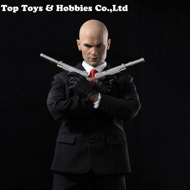 """Collectible Dreamer 1:6 Scale Hitman 47 12"""" Male Action Figure full set with the head suit and gun model and the body"""