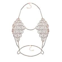 Sexy Club Rhinestone Waist Bra Body Necklace Chain Sax Bikini Bra Accessories Jewelry Bralette Women Single Party Event Favor