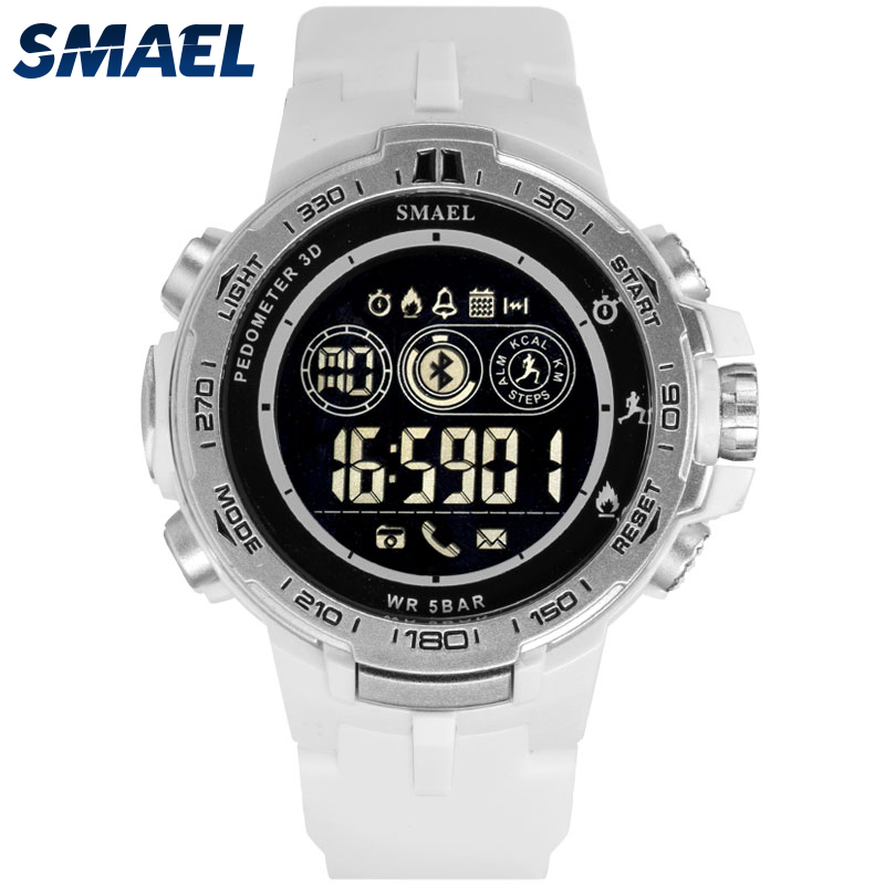 Smart Bluetooth Watches SMAEL Clock Men Sport Waterproof Electronic Watch relogio masculino 8012 Bluetooth Digital Wristwatches